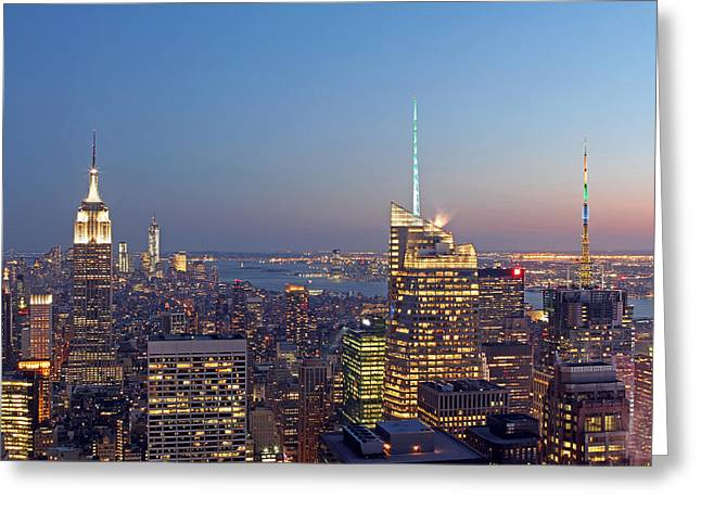 Nast Greeting Cards - Manhattan Skyline from the Top of the Rock Greeting Card by Juergen Roth