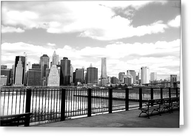 New Greeting Cards - Manhattan Skyline Greeting Card by Kristen Karpoich