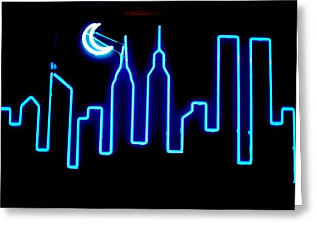 Skyline Sculptures Greeting Cards - Manhattan Skyline Greeting Card by Pacifico Palumbo