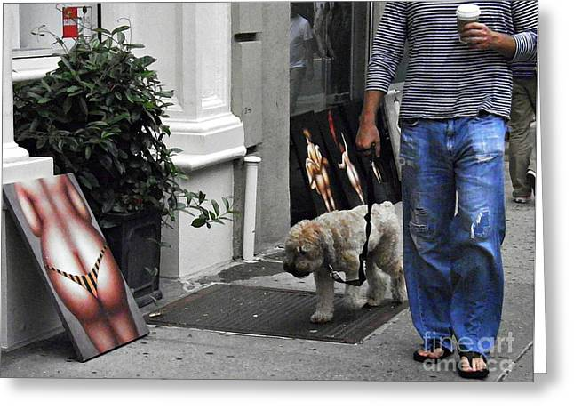 Art Exhibit Greeting Cards - Manhattan Street Art Greeting Card by Sarah Loft