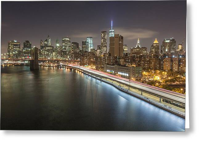 Fdr Drive Greeting Cards - Manhattan Trails - 2  Greeting Card by Michelle Neacy