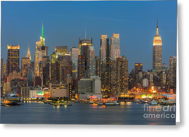 Recently Sold -  - Nast Greeting Cards - Manhattan Twilight III Greeting Card by Clarence Holmes