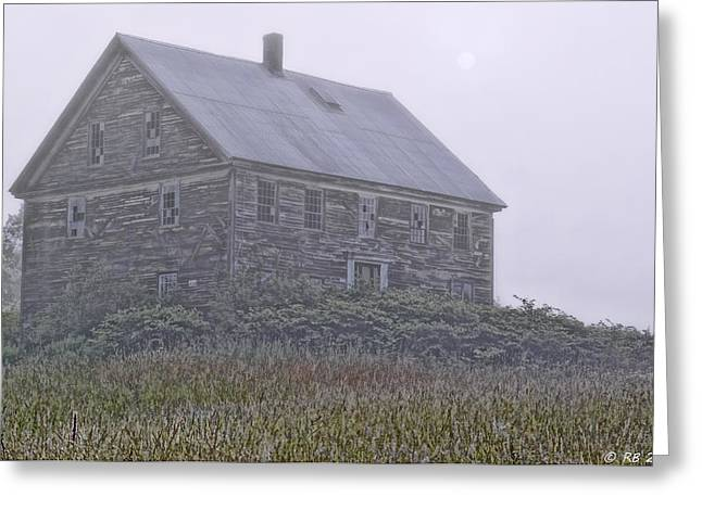Rural Maine Roads Photographs Greeting Cards - Maniac In Decline Greeting Card by Richard Bean
