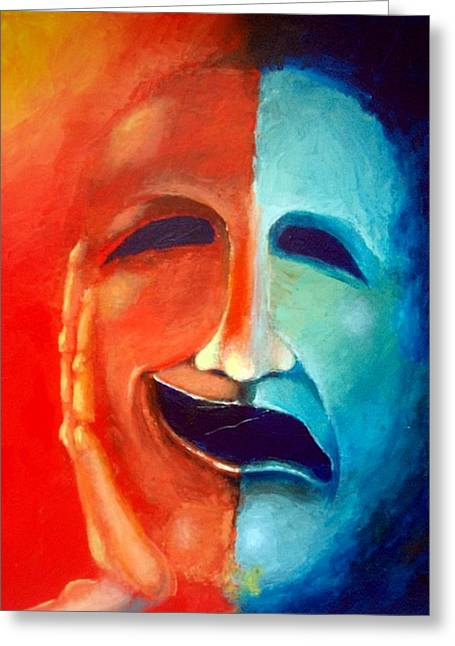 New Mind Paintings Greeting Cards - Manic Greeting Card by Michael Alvarez