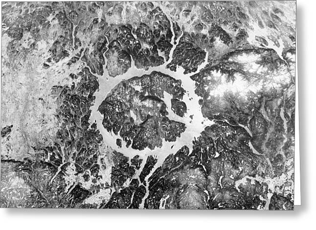 Manicouagan Crater Greeting Card by Anonymous