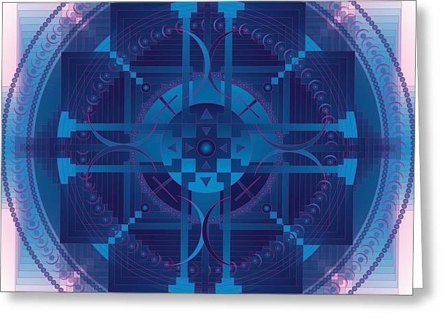 Metaphysics Greeting Cards - Manifestation Healing Mandala Greeting Card by Sarah  Niebank