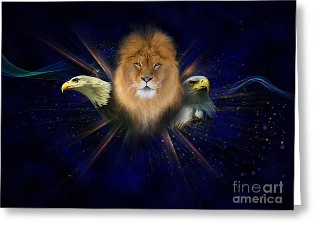 Eagle Greeting Cards - Manifold Presence Greeting Card by Tamer and Cindy Elsharouni