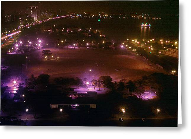 Ww11 Photographs Greeting Cards - Manila Bay night view Greeting Card by Joe  Connors