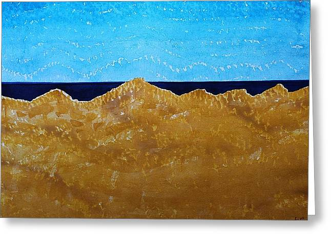 Sand Patterns Greeting Cards - Manila Dunes original painting Greeting Card by Sol Luckman