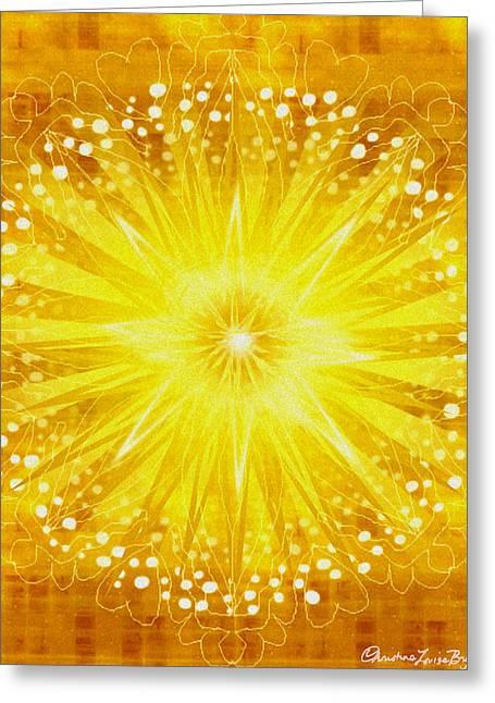 Manipura Greeting Cards - Manipura - Chakra 3 Greeting Card by Christine Louise Bryant