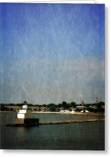 Michelle Greeting Cards - Manitowoc Breakwater Light 2.0 Greeting Card by Michelle Calkins