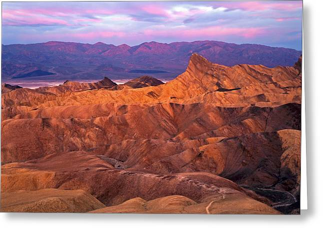 Manley Greeting Cards - Manley Beacon from Zabriskie Point Greeting Card by Mike Norton