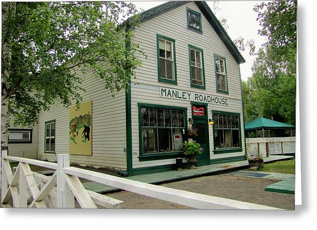 Manley Greeting Cards - Manley Hot Springs Roadhouse Greeting Card by Lisa Dunn
