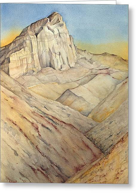 Lynne Bolwell Greeting Cards - Manly Beacon from Golden Canyon Greeting Card by Lynne Bolwell