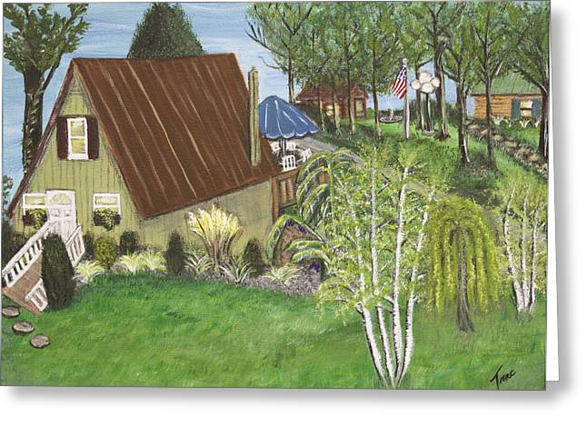 Koppel Greeting Cards - Mannels Lake House  Greeting Card by Teresa French McCarthy