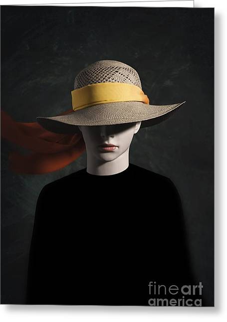 Black Scarf Greeting Cards - Mannequin With Hat Greeting Card by Carlos Caetano