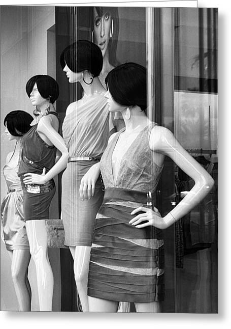 Featured Art Greeting Cards - MANNEQUINS Palm Desert Greeting Card by William Dey