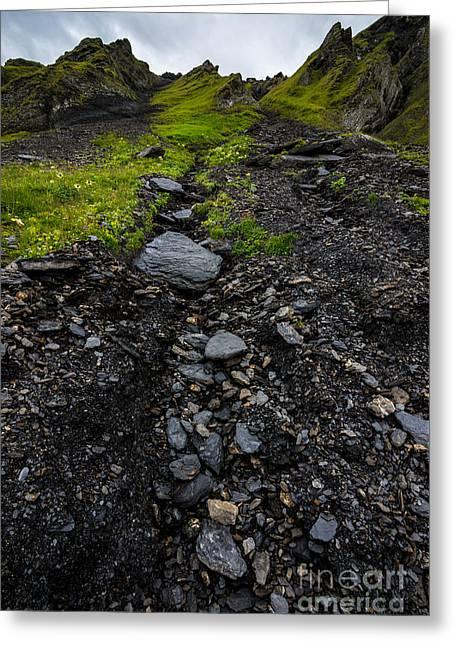 Mannlichen Green Mountainside - Bernese Alps - Switzerland Greeting Card by Gary Whitton