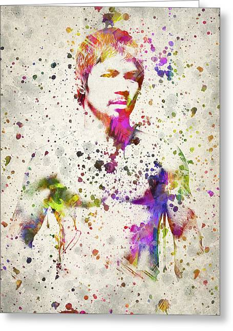 Famous Athletes Greeting Cards - Manny Pacquiao Greeting Card by Aged Pixel