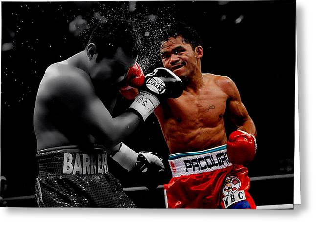 Espy Award Greeting Cards - Manny Pacquiao Greeting Card by Brian Reaves