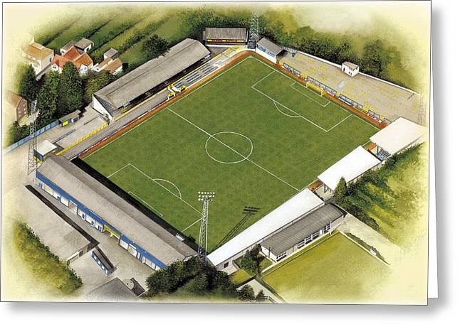 Stadia Greeting Cards - Manor Ground - Oxford United Greeting Card by Kevin Fletcher