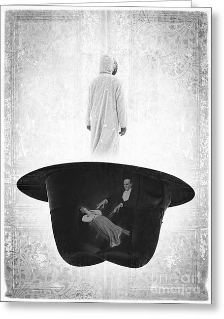 Black Clothes Greeting Cards - The Magic Hat Greeting Card by Edward Fielding