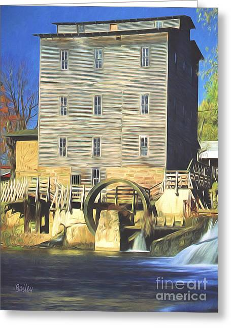 Indiana Rivers Digital Greeting Cards - Mansfield Mill Greeting Card by Steve Bailey