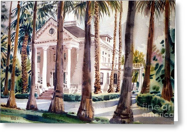 Mansion In Palo Alto Greeting Card by Donald Maier