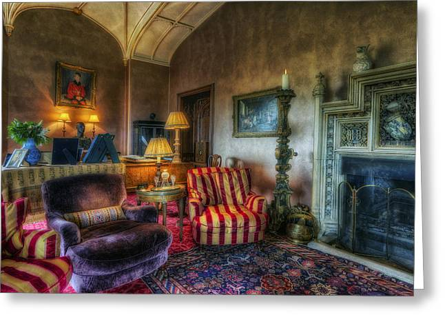 Mansion Lounge Greeting Card by Ian Mitchell