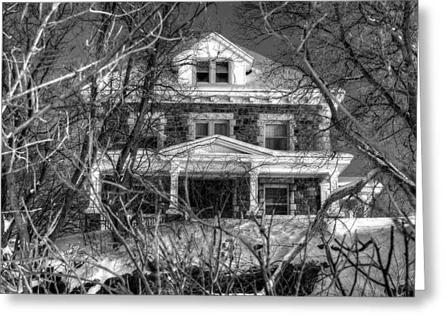 Mansion On The Hill Greeting Card by Ric Potvin