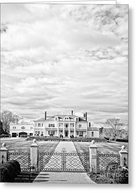 New England Coast Greeting Cards - Mansion Rye New Hampshire Open Edition Greeting Card by Edward Fielding
