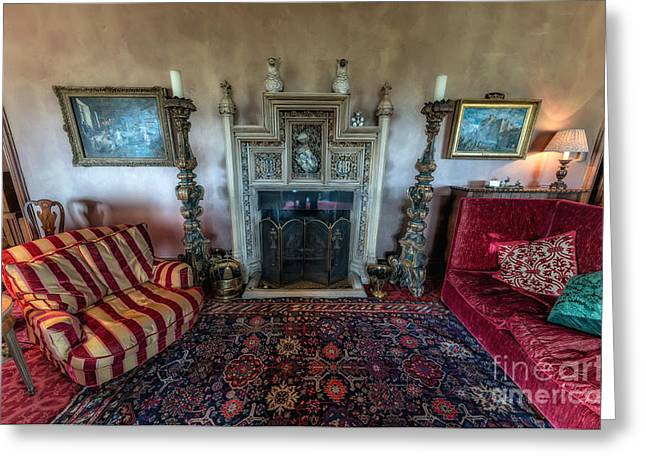Cushion Greeting Cards - Mansion Sitting Room Greeting Card by Adrian Evans