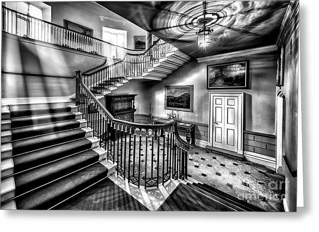 Cabinet Greeting Cards - Mansion Stairway V2 Greeting Card by Adrian Evans