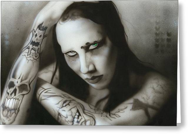 Famous Greeting Cards - Manson III Greeting Card by Christian Chapman Art