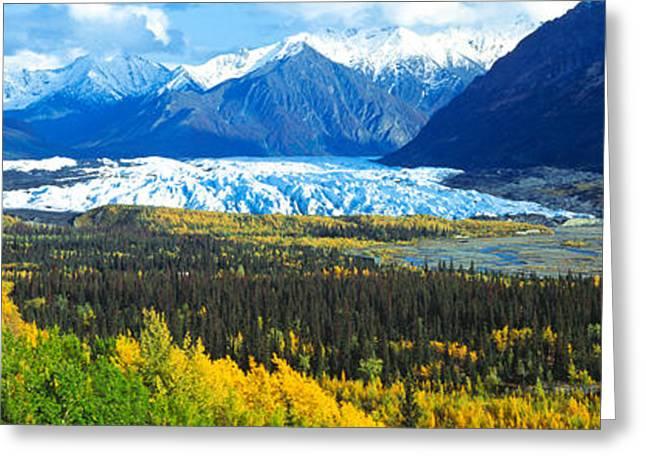 Chugach Greeting Cards - Mantanuska Glacier Ak Usa Greeting Card by Panoramic Images