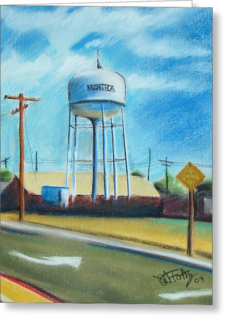 Art Of Building Pastels Greeting Cards - Manteca Tower Greeting Card by Michael Foltz