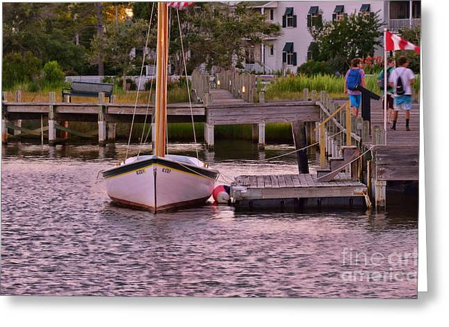 Shallowbag Bay Greeting Cards - Manteo Harbor Greeting Card by Allen Beatty