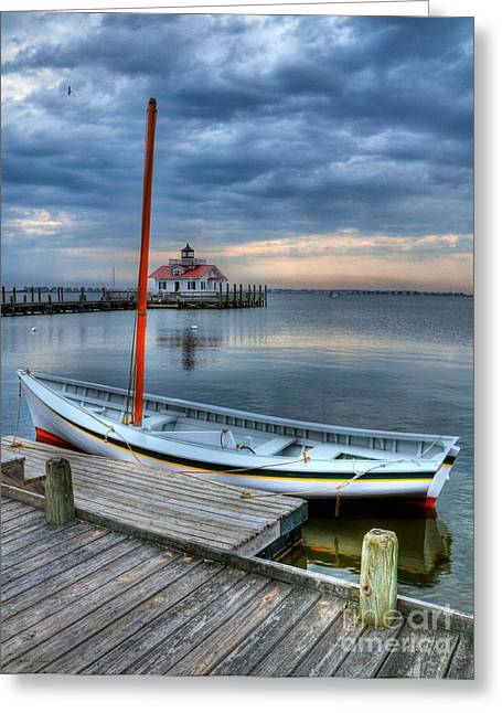 Shallowbag Bay Greeting Cards - Manteo Waterfront 2 Greeting Card by Mel Steinhauer