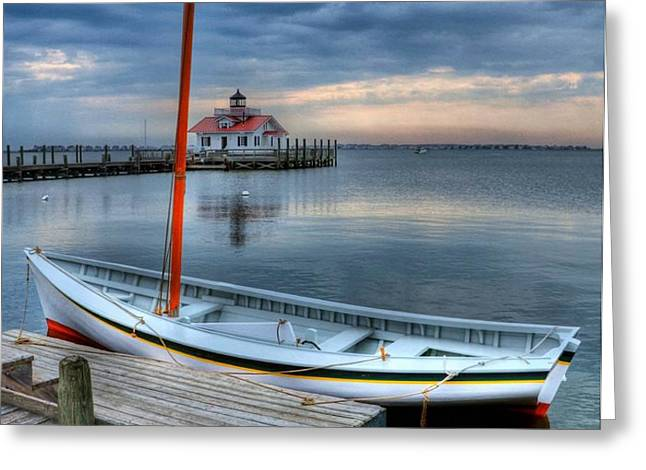 Manteo Waterfront 2 Greeting Card by Mel Steinhauer