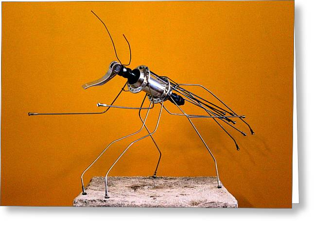 Insect Sculptures Greeting Cards - Mantis Greeting Card by Michael Ediza