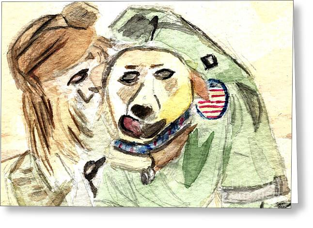 Courage Paintings Greeting Cards - Mantle of Freedom Greeting Card by Elizabeth Briggs