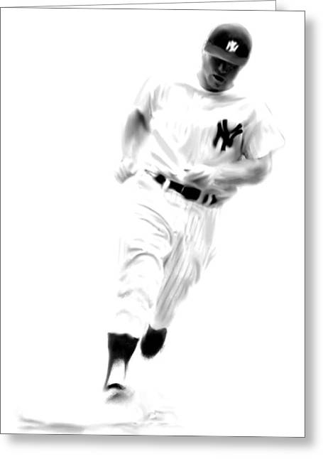 Mantles Gate  Mickey Mantle Greeting Card by Iconic Images Art Gallery David Pucciarelli