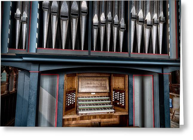Manual Pipe Organ Greeting Card by Adrian Evans