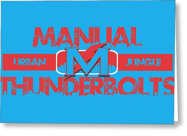 Manual Greeting Cards - Manual Thunderbolts Greeting Card by Joe Hamilton