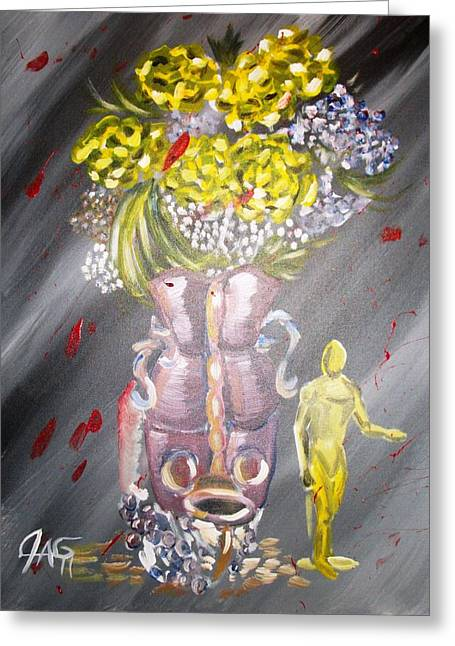 Recently Sold -  - Gypsy Greeting Cards - Manuvase Greeting Card by The Gypsy And D Kay