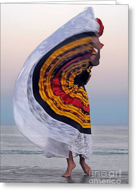 Dancer Photographs Greeting Cards - Many Colors Greeting Card by Dan Holm
