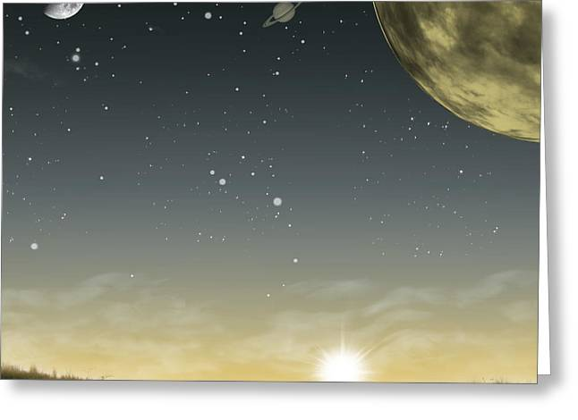 Wonderous Greeting Cards - Many Moons Ago Greeting Card by Brian Wallace