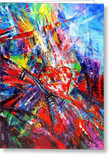Swirls Of Energy Greeting Cards - Many Roads To God Greeting Card by Helen Kagan