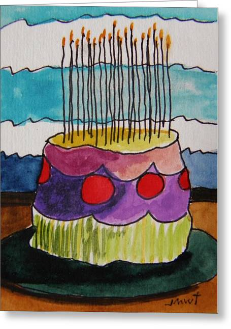 Aceo Original Drawings Greeting Cards - Many Tapers Greeting Card by John  Williams