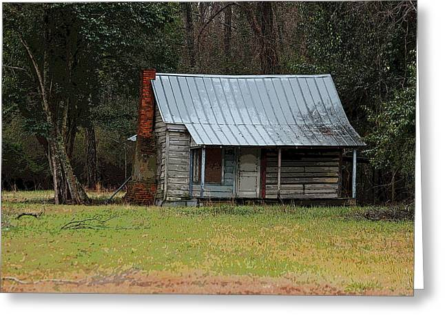 Wooden Building Greeting Cards - Many Years Have Come and Gone Greeting Card by Suzanne Gaff